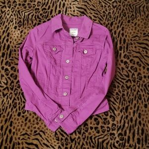 Purple old navy jean jacket